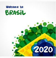 Welcome to brazil 2020 background vector