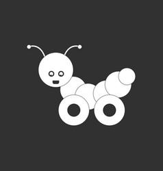 White icon on black background children toy vector