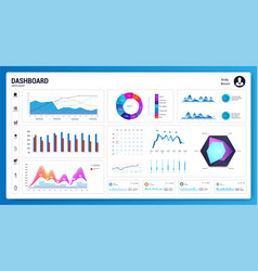 White infographic dashboard vector