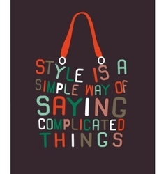Woman bag made from quotes vector