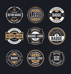 circle vintage and retro badge design collection vector image vector image