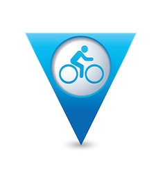 cyclist symbol map pointer blue vector image
