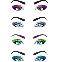 eyes vector image