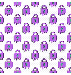 melting lock seamless pattern vector image vector image