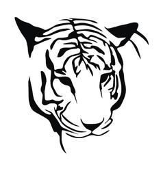 White Tiger Stencil vector image vector image
