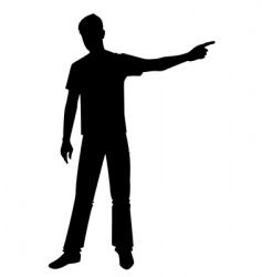 Boy pointing vector