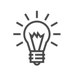 bulb thin line icon vector image