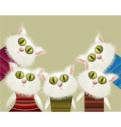 Cats in pullovers vector
