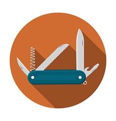 Flat design modern of multifunctional pocket knife vector image vector image