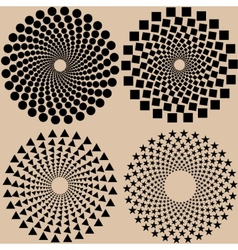 halftone dots pattern set in format vector image vector image