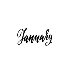 hand drawn typography lettering january month vector image vector image