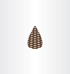 pinecone icon symbol vector image