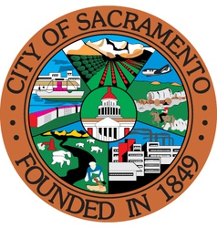 Sacramento city seal vector image vector image