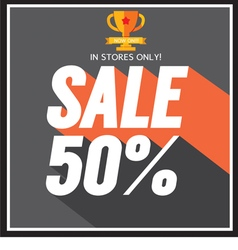 Sale up to 50 percent vector image