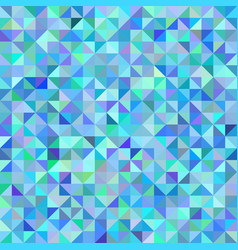 abstract background of triangles blue green scale vector image vector image
