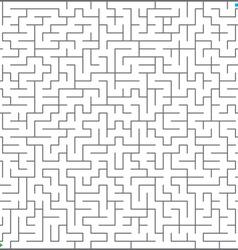 big maze vector image vector image