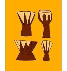 hand drawn djembe vector image vector image