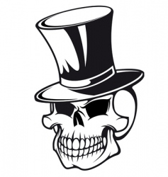 skull in hat vector image vector image
