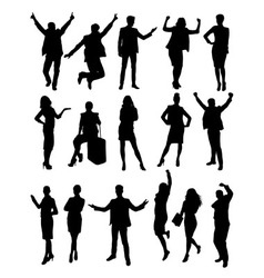 Success Business Activity Silhouettes vector image