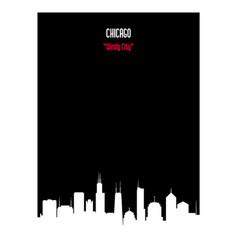 white silhouette chicago urban skyline vector image