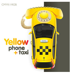 yellow taxi-phone vector image vector image