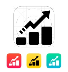 Line chart up icon vector image vector image
