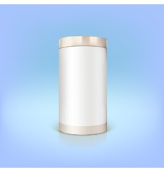 Round tin packaging vector image vector image