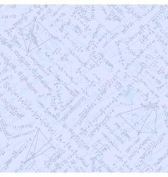 Seamless math elements on school board EPS 10 vector image