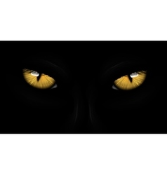 yellow eyes black Panther vector image
