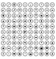 100 refurbishment icons set simple style vector