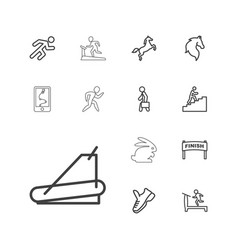 13 running icons vector