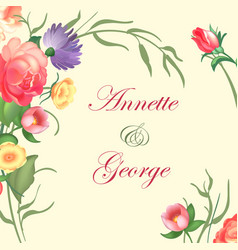 A vintage frame on floral vector