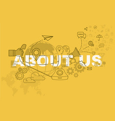 about us website banner concept vector image