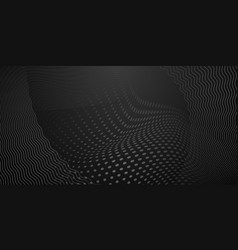 abstract background halftone dots and curved vector image