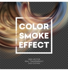 Abstract colored smoke effect background design vector image vector image