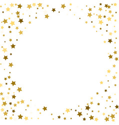 abstract round background with gold star elements vector image