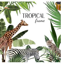 african safari animals frame cute animals vector image