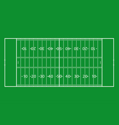 american football field green grass football vector image