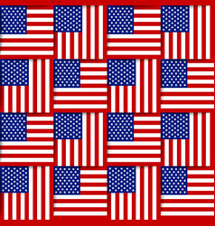 american seamless pattern vector image