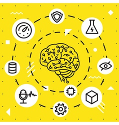 Artificial Intelligence Functions vector image