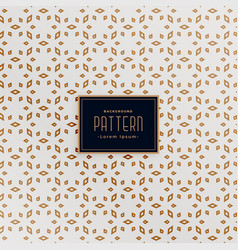 Attractive islamic style white and gold pattern vector