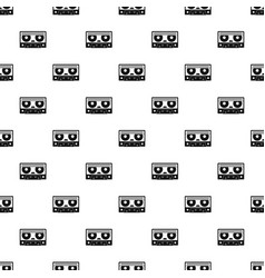 Audio cassette tape pattern vector