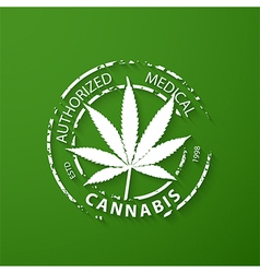 Authorized medical cannabis grunge rubber stamp vector