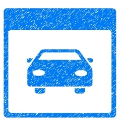 Automobile Car Calendar Page Grainy Texture Icon vector