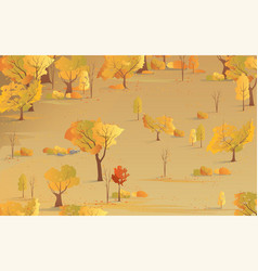 autumn natural background fall season yellow vector image