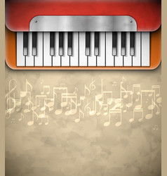 Background with piano vector image