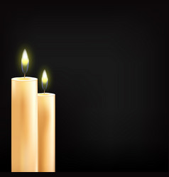 beautiful glowing candles vector image