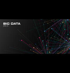 Big data visualization abstract background vector