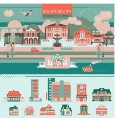 Big set with City Infographic Objects vector image