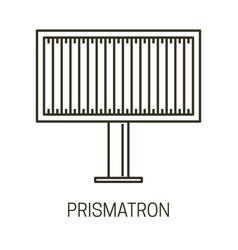 Billboard design or prismatron banner for outdoor vector